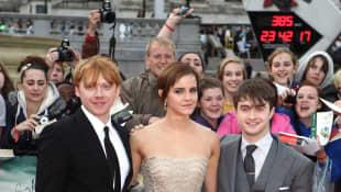 Daniel Radcliffe, Emma Watson and Rupert Grint