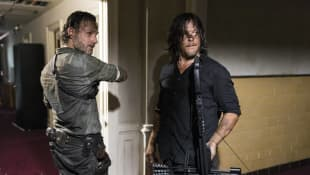 """Daryl"" and ""Rick"" from The Walking Dead"