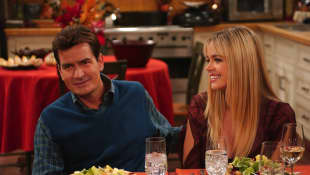 Dos hombres y medio Charlie Sheen Denise Richards