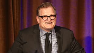 Master of Ceremonies Drew Carey speaks during the Beverly Hills Bar Association's 2018 Entertainment Lawyer of the Year Dinner at the Montage Beverly Hills on May 3, 2018 in Beverly Hills, California