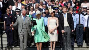 Charles, Camilla, Meghan and Harry