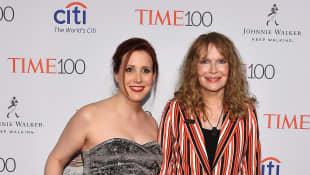 Dylan Farrow and Mia Farrow