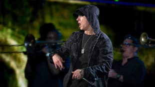 Eminem performing in 2014.
