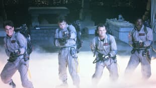Ernie Hudson, Dan Aykroyd , Bill Murray and Harold Ramis in 'Ghostbusters'