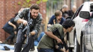 Fighting Scene from The Walking Dead