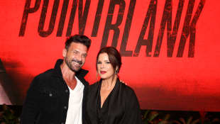 Frank Grillo and Marcia Gay Harden