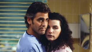 George Clooney and Julianna Margulies in 'ER'.