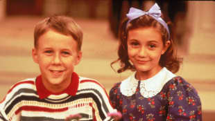 Benjamin Salisbury and Madeline Zima in The Nanny