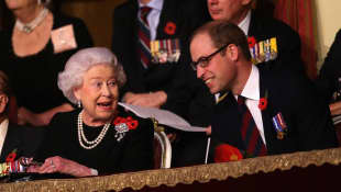 La reina Isabel y el príncipe William