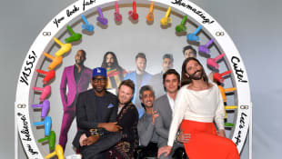 Karamo Brown, Bobby Berk, Tan France, Antoni Porowski, and Jonathan Van Ness at the Netflix FYSEE 'Queer Eye' panel in Los Angeles, 2019.