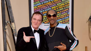 Quentin Tarantino and Snoop Dogg