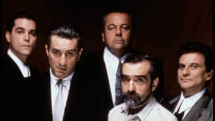 "Ray Liotta, Robert De Niro, Joey Pesci, Paul Sorvino and Martin Scorsese from ""Goodfellas"""