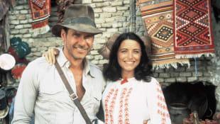 Harrison Ford and Karen Allen