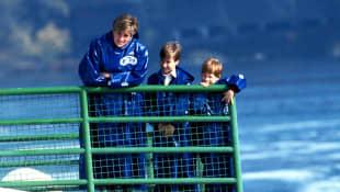Princesa Diana, el príncipe William y el príncipe Harry