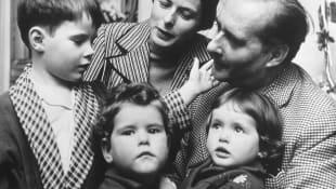 Ingrid Bergman and Her Family