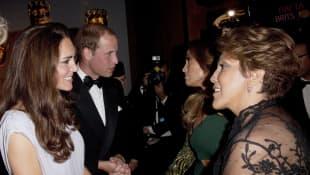 Príncipe William, Kate Middleton, Guadalupe Rodriguez y Jennifer Lopez