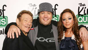 Jerry Stiller, Kevin James and Leah Remini