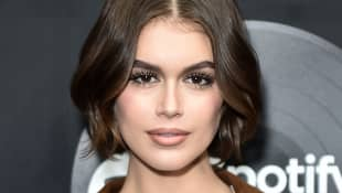 Kaia Gerber Shows Off Tiny Tattoos In Topless Selfie