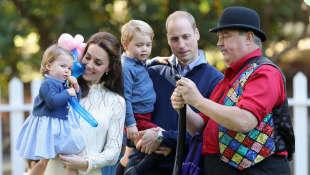 Kate Middleton, príncipe William, princesa Charlotte y príncipe George