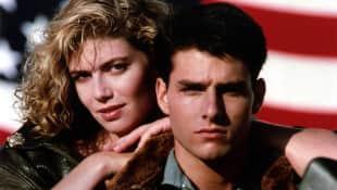 Kelly McGillis and Tom Cruise