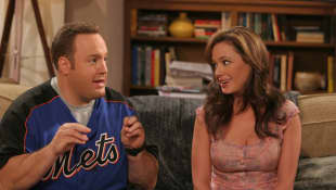 "Kevin James and Leah Remini in The King of ""Queens"