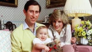 Princesa Diana, Príncipe Carlos y Príncipe William 1983