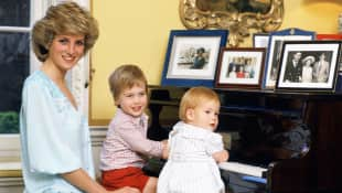 Lady Diana, Prince William and Prince Harry