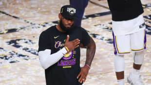 LeBron James Tribute Kobe Bryant Lakers NBA Finals Win 2020 Instagram