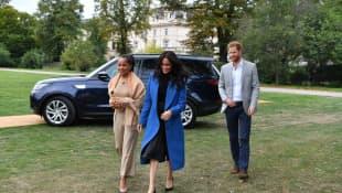 Doria Ragland, Meghan Markle and Prince Harry