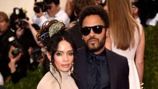 Lisa Bonet y Lenny Kravitz