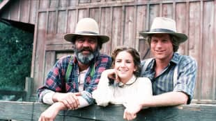 Melissa Gilbert, Dean Butler and Victor French