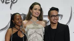 Angelina Jolie with Zahara and Maddox