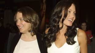 Marcheline Bertrand and Angelina Jolie