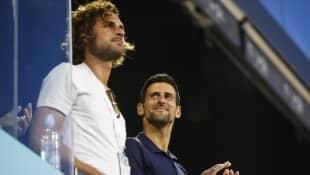 Novak Djokovic y Marko Djokovic