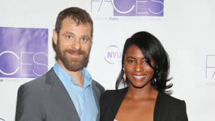 Matt and Angela Howard Stone attend NYU Langone Medical Center's 2016 FACES Gala on March 7, 2016 in New York City