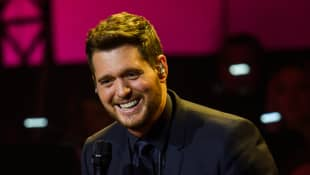 Michael Bublé performs live on stage during the Telekom Street Gigs at Wappenhalle on December 4, 2018 in Munich, Germany