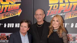 Michael J. Fox, Christopher Lloyd y Lea Thompson
