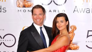 "Michael Weatherly and Coté de Pablo from ""NCIS"""