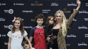 Michelle Vieth y su familia