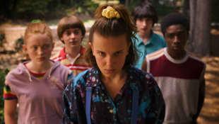 Scene from the series 'Stranger Things'