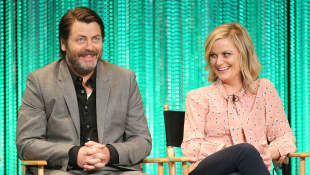Nick Offerman and Amy Poehler
