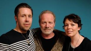 Paddy Considine, Peter Mullan y Olivia Colman