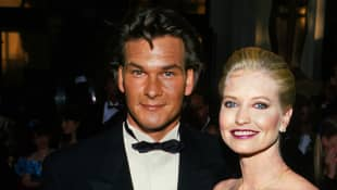 Patrick Swayze with Lisa Niemi at the Oscars 1989