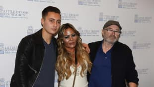 Nick, Orianne and Phil Collins