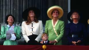 Sarah Ferguson and Princess Diana