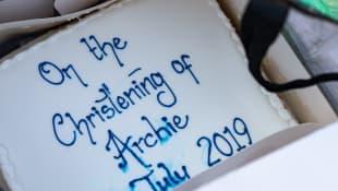 Archie Christening Cake