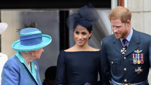 The Queen, Duchess Meghan and Prince Harry