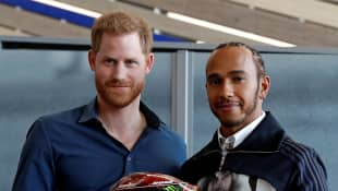 Prince Harry and Lewis Hamilton Open British Racing Museum