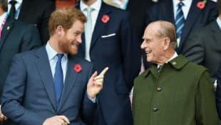 Príncipe Harry y el príncipe Felipe