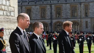 Prince William, Peter Phillips, and Prince Harry